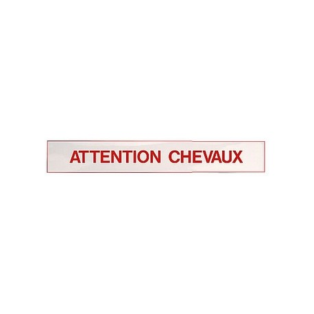 "Autocollant ""Attention chevaux"""""""