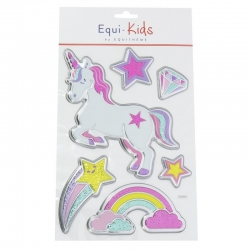 Stickers licornes 3D rainbow Equi-kids