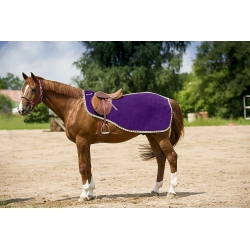 """Couvre-reins EQUI-THÈME polaire """"Striped binding"""""""